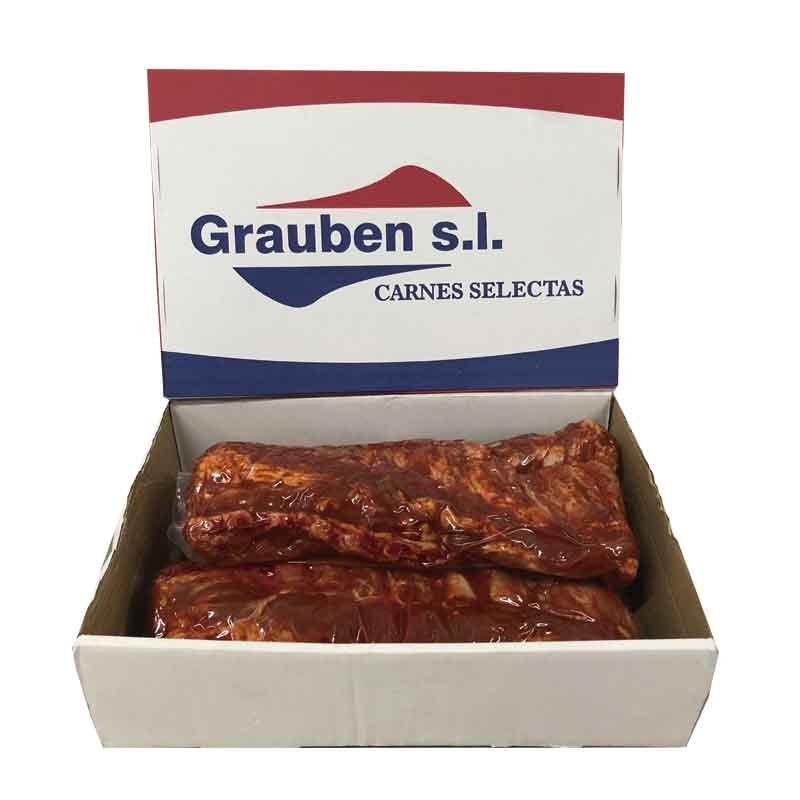 Tira de costilla de cerdo adobada | Grauben